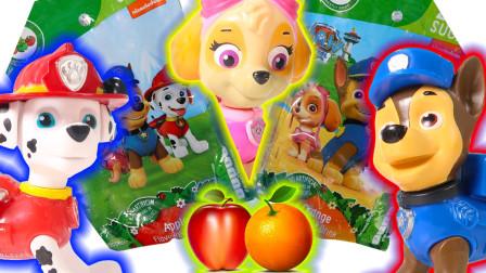 美莉玩具酷 汽车玩具 狗狗巡逻队汽车救援恐龙拆箱奇趣蛋食玩饮料