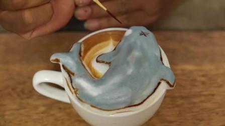 你喝过3D咖啡吗? 最好的色彩3D咖啡还有哆啦A梦, 长颈鹿, 海狮, 章鱼, 鲨鱼等形状呢!