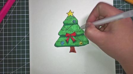 超可爱圣诞树 简笔画