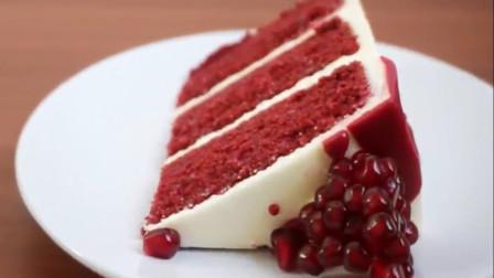 「烘焙教程」宝石红丝绒蛋糕, 朋友圈里的摆拍Queen