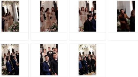 啊娇婚礼大合照, 很多TVB老面孔都出现了你还记得几个