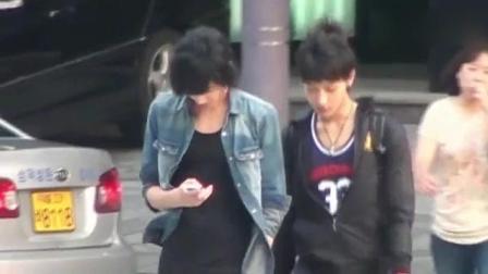 吴亦凡黄子韬出道前视频, 两人都留长头发扎辫子