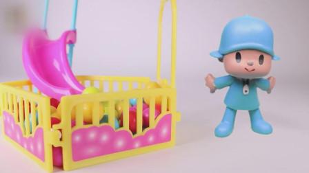 小P优优玩具: 神奇的盒子带优优来到游乐场卡丁车赛场和公园