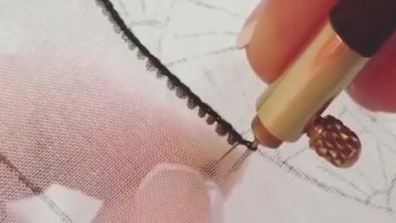 刺绣: 这下能看清楚了吧, 法式刺绣之反面勾珠!