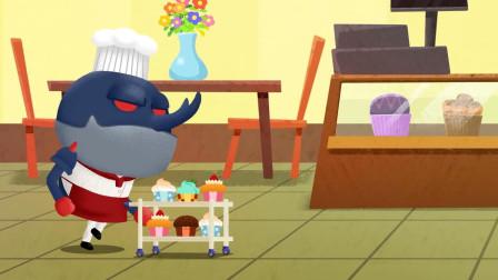 英语早教儿歌: 臭屁虫在蛋糕房的欢乐时间, 自己动手做蛋糕!