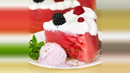 纯水果蛋糕, 没错主料就是西瓜