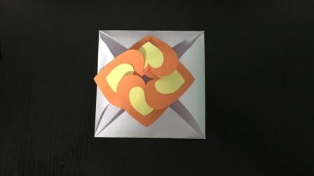 爱心信封折纸! 儿童创意手工DIY, 节日贺卡制作
