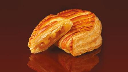 教你用苹果做出美味的苹果酥, 酥脆的千层外壳, 里面是香甜的苹果