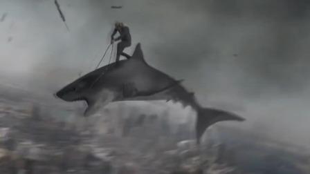 一群鲨鱼从天而降,在空中还能飞翔,网友:导演请放过那些鲨鱼!