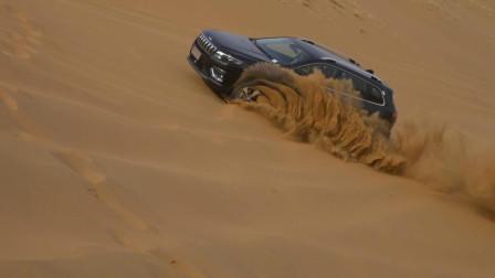 装上2.0T发动机的Jeep自由光, 沙漠自驾游, 虎克之路越野妥妥的!