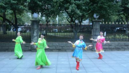 达州姹紫嫣红原创舞蹈 《赞歌 》正背表演与动作分解