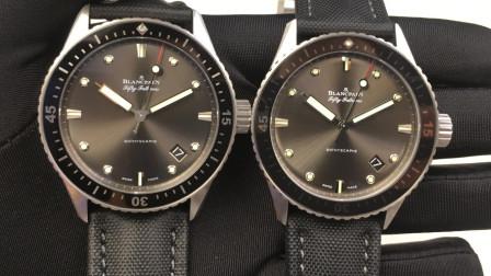 宝珀新款钛壳ZF厂版本对比正品BLANCPAIN五十噚系列FIFTY FATHOMS-三维腕表