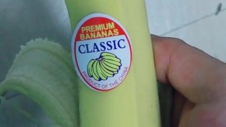 买的时候老板说进口香蕉比较好吃! 回来仔细一看, 瞬间觉得学好英文还是蛮有用的!