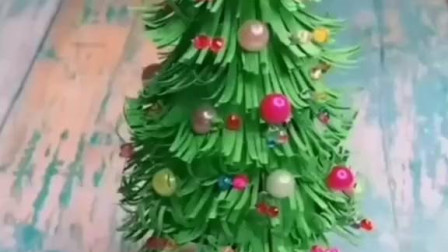 圣诞节怎么能少了圣诞树, 赶快收藏起来, 带孩子动手做