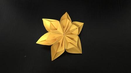 【折纸大全】漂亮的雪花折纸! 简单立体圣诞雪花折纸教程!
