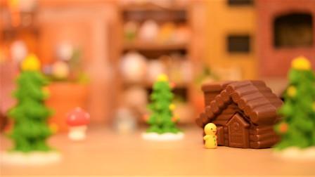 定格动画-姜饼人为圣诞节做准备的巧克力房