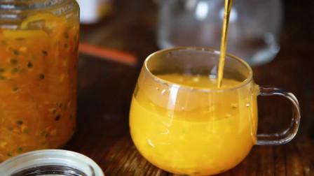 蜂蜜柚子茶加百香果肉, 轻松去除苦涩味。