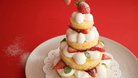 「烘焙教程」圣诞节系列甜品—圣诞树蛋糕