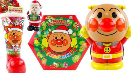 橙子乐园在日本 2017 面包超人圣诞节趣味食玩零食大礼包