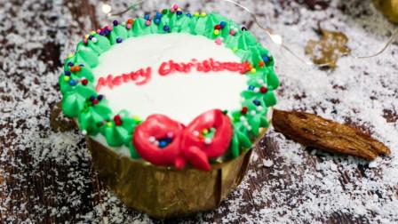 圣诞节来临, 西点师教大家一道点心: 圣诞纸杯蛋糕! 简单好学