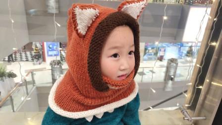 毛儿手作棒针编织小狐狸帽子宝宝斗篷新手编织视频好看的编织视频