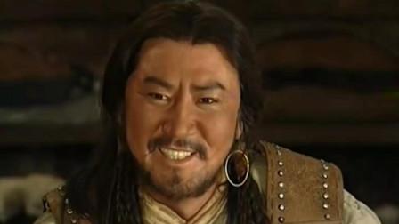 成吉思汗看着儿子们, 在一旁笑的挺开心, 告诉儿子靠自己的力量活下来