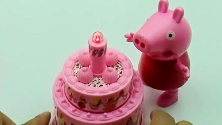 佩奇买到双层生日蛋糕, 粉色的奶油