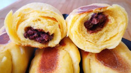 玉米面里加一碗红豆, 不用锅蒸, 不用油炸, 简单一做, 比面包还好吃