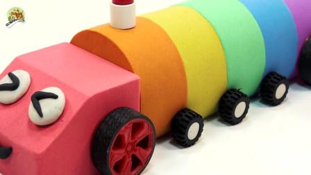 动感沙橡皮泥制作冰淇淋大卡车模型