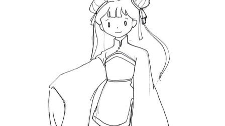 卡通动漫人物简笔画, 漂亮的小仙女