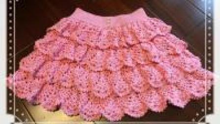 一款减龄钩针裙, 穿上活泼显年青, 多层花瓣钩针裙教程(四)