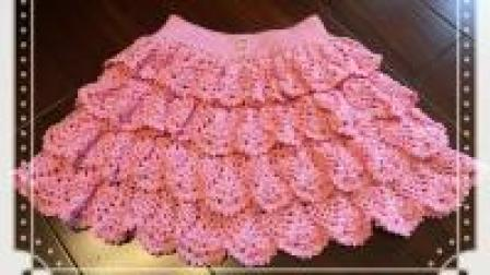 漂亮短裙用一根钩针就能完成, 一款多层花瓣裙, 教程送达! (二)