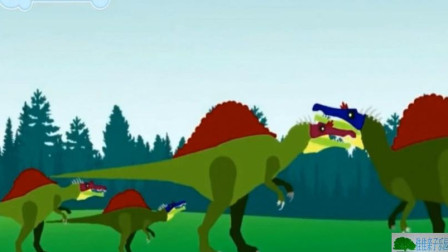 恐龙乐园 恐龙总动员 恐龙世界 恐龙动画片 刺背龙捕鱼8