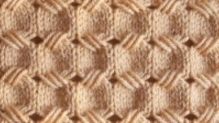 一款适合织男士围巾的花型, 凹块拼接纹, 低调又不失大气!