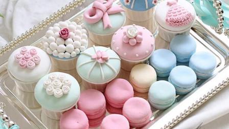 这是一个甜蜜的诱惑, 巧克力双色马卡龙蛋糕6