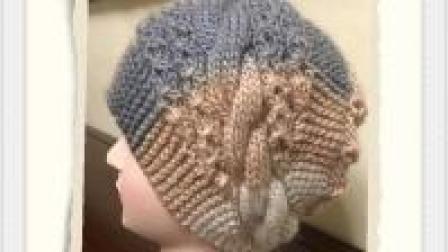 帽子不用买, 自己织的一样好看, 一款麻花铜钱帽教程(四)