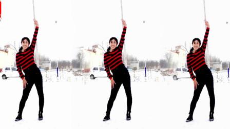 阿采广场舞教学《冬天里的一把火》网红摆胯舞,让你看不够