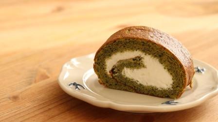 清新好吃的抹茶瑞士卷, 松软美味不容易掉皮