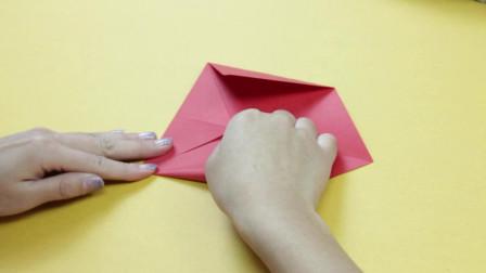 薯条老师手工课, 今天教大家如何用纸折灯笼, 看完你学会了吗?