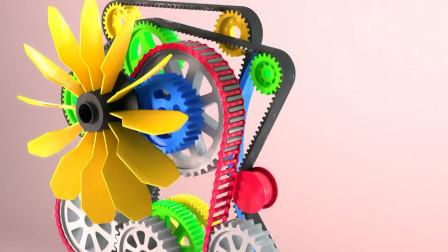 齿轮传动结构, 设计的真好看!
