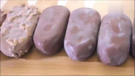 韩国大胃王吃播巧克力夹心冰棒, 一口气吃10根