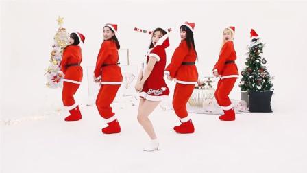Saturday女团17岁队长化身圣诞小公主, 性感又可爱, 太诱惑!