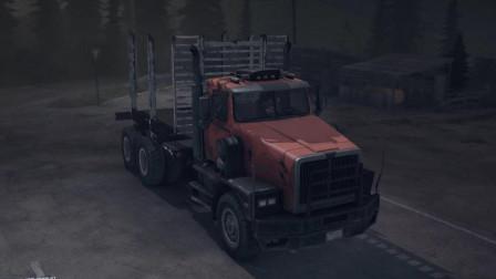 美国荒野DLC 运送木头 西部之星卡车运输木头 装载木头越来越轻松了 旋转轮胎: 泥泞奔驰