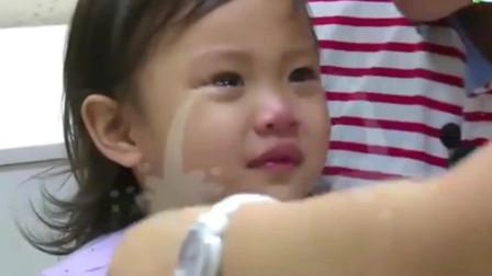 爸爸回来了: 不打针狂哭, 一说要打针不哭, 女汉子甜馨果然与众不同