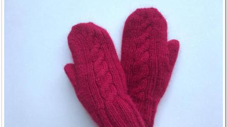 女款貂绒手套的编织方法,保暖护手,漂亮实用编织花样大全图