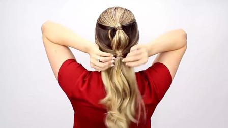 美发达人教你扎出好看的马尾辫发