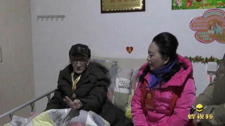 四川眉山97岁老人背诵26个英文字母 每天坚持整理内务