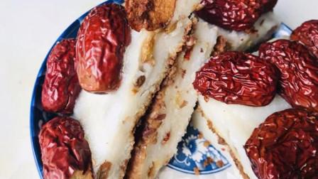 在家自制糯米糕, 简单蒸一蒸, 出锅就可以吃, 香甜软糯, 简单易学