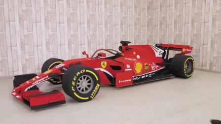 纸板方程式赛车, 经过涂装变成火红的法拉利, 一起来见识下!