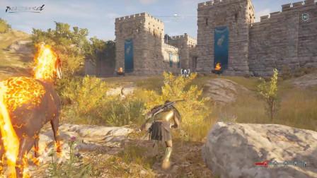 《刺客信条奥德赛》游戏升到50级后连续轻松刺杀十个佣兵